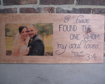 Picture on Wood Sign: PhotoTransfered, Hand Painted, Handmade sign, Rustic Sign, Decor, Wedding gift