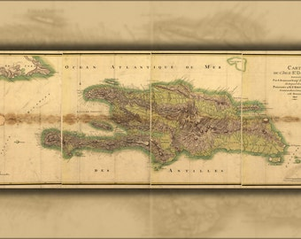 24x36 Poster; Map Of Hispaniola 1805