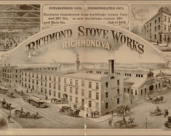 24x36 Poster; Richmond Stove Works Virginia 1877