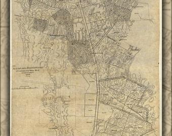24x36 Poster; Map Of Antietam Battle Field 1895 P2