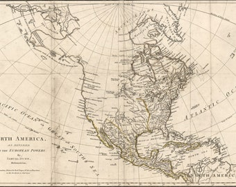 24x36 Poster; Map Of North America Pre United States 1776