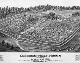 24x36 Poster; Andersonville Prison