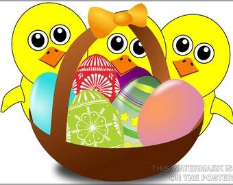 24x36 Poster; Easter Chicks