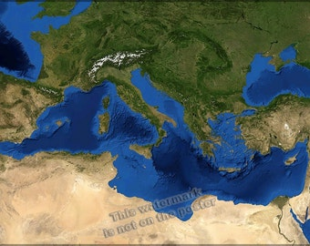 24x36 Poster; Mediterranean Sea