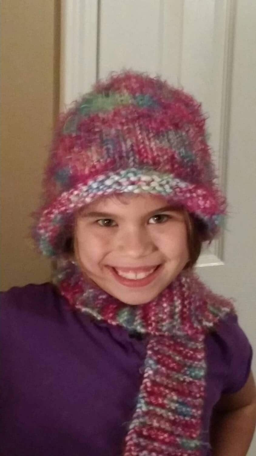warm hat and scarf set