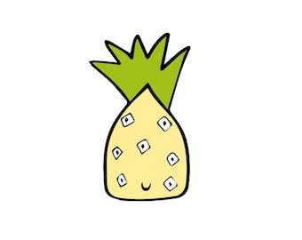 Alien Pineapple Cake toppers