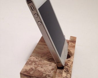 Spalted Tamarid/Iphone/Ipad/ipad mini/ tablet/Stand/Reclaimed/natural/holder/charging dock/station