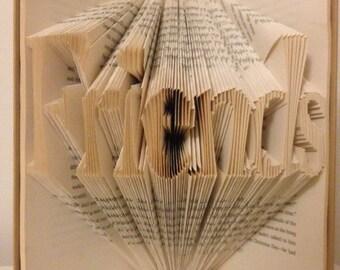 Folded Book Art - Friends