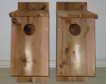2 Brand New Screech Owl Bird Houses - Free Shipping