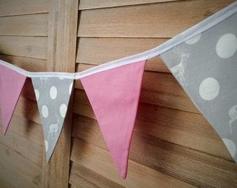 Bunting Flags - Deer, Dot & Pink - F1005