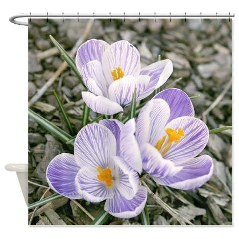 Floral Shower Curtain Purple And Grey Shower Curtain Flower