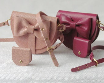 Modern shoulder bag, 1/12 scale, with wallets and matching belt