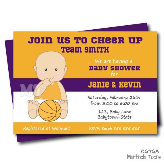 basketball baby shower invitation coed baby shower sports baby shower