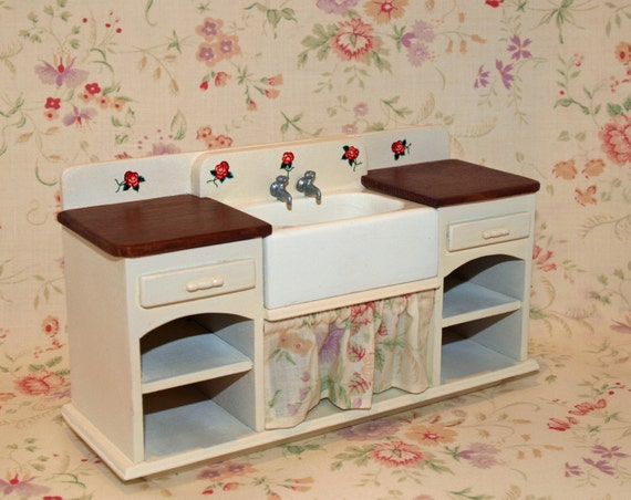 shabby chic bathroom sink unit shabby chic kitchen sink unit painted with floral curtain 24097