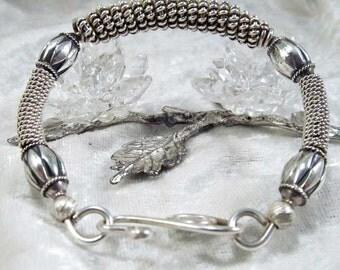 Elegant Sterling Silver Bangle