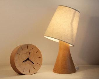 Handcrafted Wooden original desk lamp Decorative lamp Night lamp Solid Wood lamp Vintage Decorative lamp