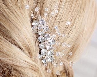 rhinestone hairpiece, wedding hair accessories, wedding hairpiece, bridal hair comb, crystal hair comb, rhinestone hair comb