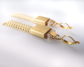 Large Gold earrings on SALE 40%OFF - free shipping - Cool Urban Designed Jewelry for women / gift