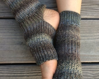 Hand Knit Yoga Socks (Camo)