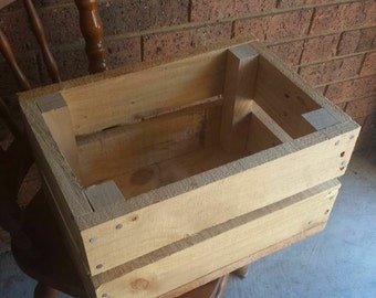 Recycled wooden storage crate