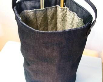 Knitting Bag - Blue
