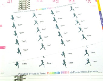 Running Time Track Meet Female Women Planner Stickers Fits Your Erin Condren Life Planner 1541