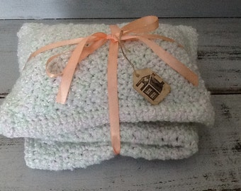Crochet Doll Blanket and Pillow/Doll Bedding