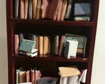 Dolls house miniature books, vintage style job lot of 22 books