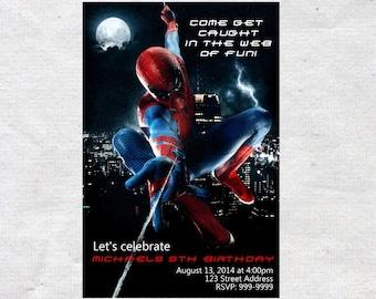 Spiderman Birthday Invitation Invite Spiderman Invitation Spiderman Invite