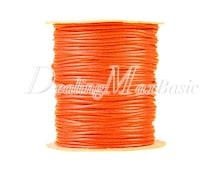1 Roll/80m Fluorescent Orange Polyester Cord Wire Thread String Jewelry Making 2x2mm New  TC0114-41
