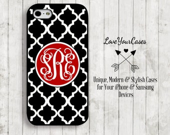 iPhone 6 Case, iPhone 6 Plus Case, iPhone 5 Case, iPhone 5c Case, Samsung Galaxy Case, Monogrammed Case, Personalized iPhone, Trellis, 148