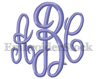 6 Sizes Embroidery Fonts Mastercircle Monogram Font Machine Embroidery Monogram Design