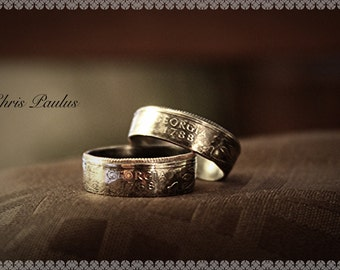 His & Hers State Coin Rings