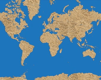 Map of the world,sand dot pattern   - World Map Series