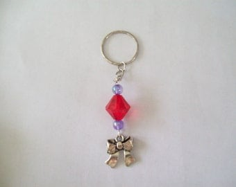 Red keyring with bow