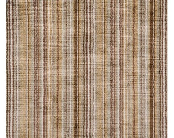 BRUNSCHWIG & FILS ITALIAN Velvet Stripes Fabric 10 Yards Topez Beige Brown Multi