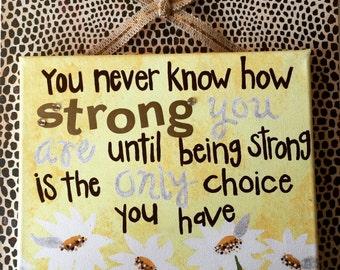 Strength Daisy Canvas