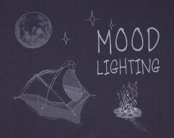 MOOD LIGHTING Ladies Cut Shirt. Original, Witty, Down To Earth Design.  Silk Screen Print
