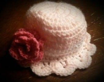Crochet Adorable Girl Hat