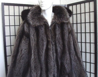 Refurbished new raccoon & fox fur bomber jacket w/hood for men man size all custom made