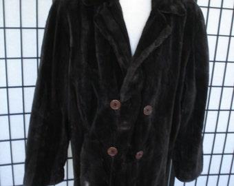 Brand new brown sheared beaver fur jacket coat peacoat  for men man size all custom made