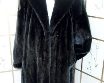 Brand new Canadian black mink fur jacket coat for women woman size all custom made