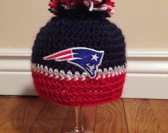 New England Patriots Inspired Crochet Hat