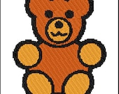 Cute Teddybear Embroidery  Design Pattern *Instant Download* PES