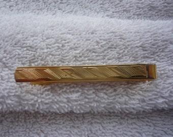 1960s Tie Slide - Vintage Diamond Cut