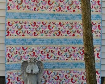 Twirly Birds baby quilt