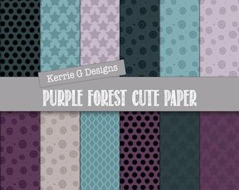 Patterned paper, digital paper packs Downloadable scrapbook paper printable, purple blue green stars digi printable scrapbooking,