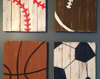 Sports Decor | Wood Sports Sign | Sports Wood Sign | Sports Theme Room | Sports Sign | Sports Nursery | Baseball Decor | Football Decor