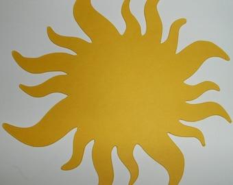 Sun Die Cuts-40 Bright Yellow Paper Suns-Rapunzel Tangled Decorations (1005E)
