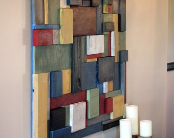 Painted Wooden Wall Art
